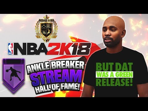 NBA 2K18 STREAM! MAXED OUT SHOT CREATOR PLAYMAKER GRINDING FOR HALL OF FAME ANKLE BREAKER BADGE