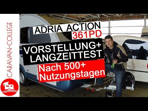 test wohnwagen adria action 361pd vor nachteile langzeittest youtube. Black Bedroom Furniture Sets. Home Design Ideas