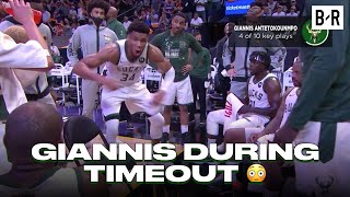 Giannis Tried To Hype Up Bucks Teammates In Game 2 Loss