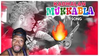 Download Mukkala Mukkabala Video Song | Kadhalan Movie Songs | Prabhudeva | Nagma | AR Rahman (REACTION)