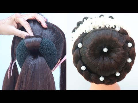 easy-juda-hairstyle-with-gajra-||-hairstyle-for-saree-||-bun-hairstyle-||-ladies-hair-style