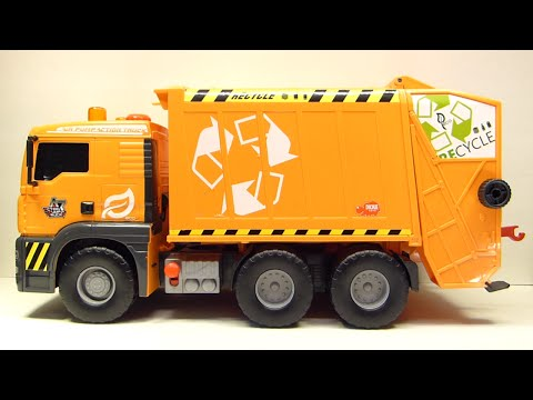 Dickie Toys Air Pump Action Garbage Truck - Toy Review