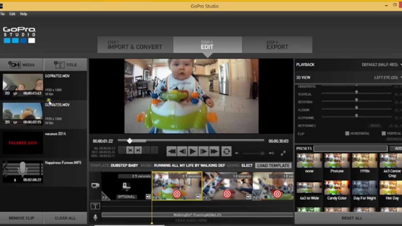 Programma video editing e montaggio gratis gopro studio for Programmi per design gratis