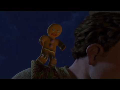 Gingerbread GIANT Ravages the city -Shrek 2 Best Scenes