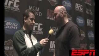 UFC 108: DANA WHITE tells media promote us, Cofield from ESPNRadio1100 debates