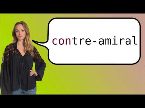 How to say 'rear admiral' in French?