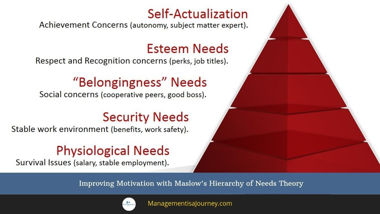 hierarchy of motives and needs Maslow developed the pyramid of needs to represent a hierarchy of human motives, with those at the bottom taking precedence over those higher up at the base of maslow's pyramid are .