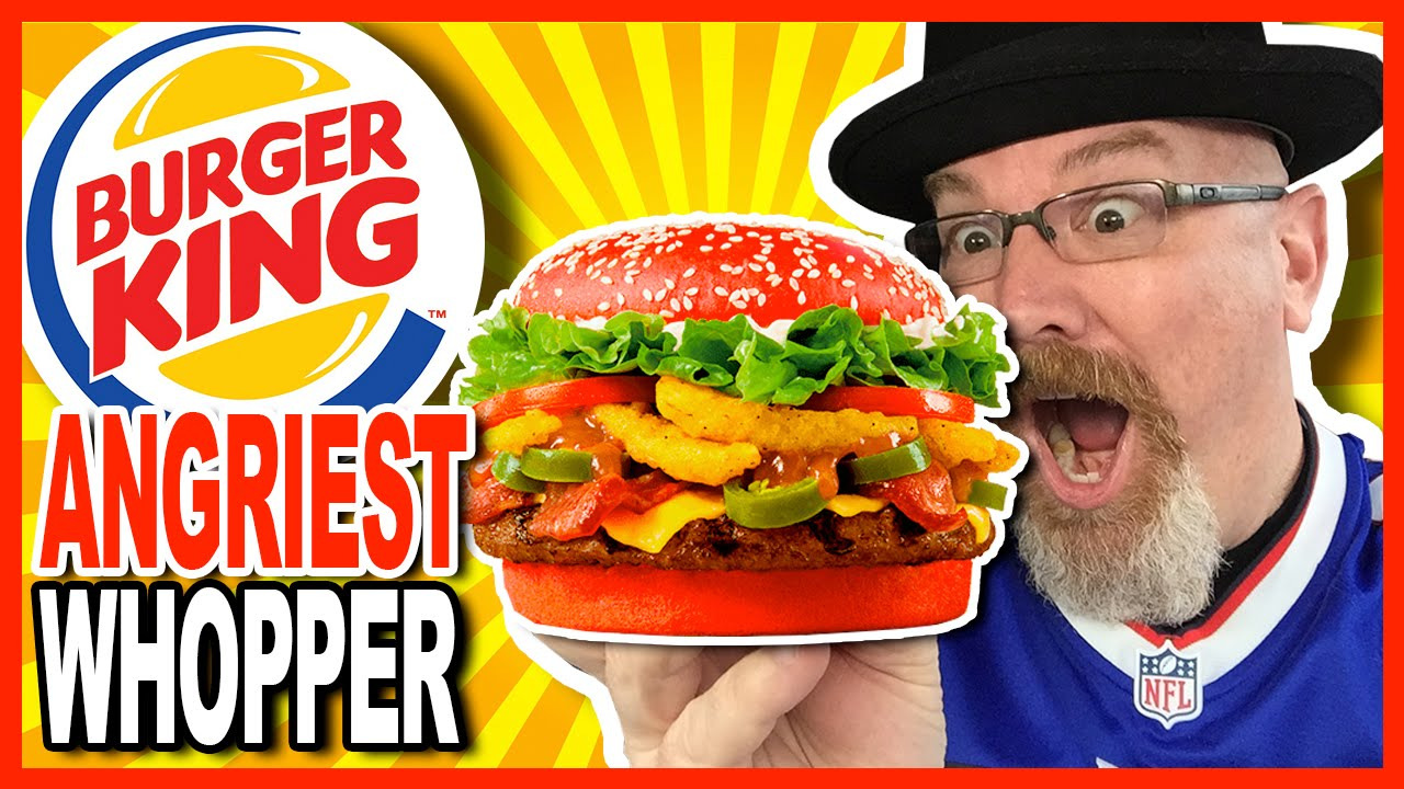 Burger King ANGRIEST WHOPPER!!! Review plus Drive Thru Experience