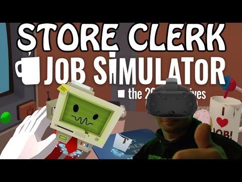 Job Simulator Gameplay #1 - Store Clerk (PC)(HTC Vive VR)