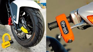 5 SECURE BIKE ACCESSORIES INVENTION ▶ Lock Motorcycle Use This Gadgets
