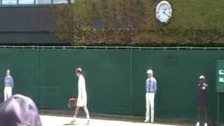 添田豪 2010全英1R  vsフィッシャー 第2セットの3分間(個人撮影)
