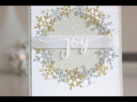 Glitter Christmas Cards.Christmas Card Glitter Snowflakes With Nuvo Sparkle Dust