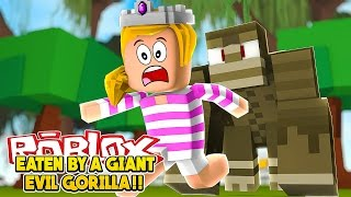ROBLOX ESCAPING THE JUNGLE OBBY|| CHASED BY AN EVIL GORILLA!!! - Baby Leah Minecraft Roleplay!