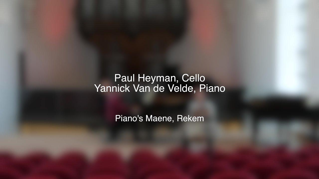 Beethoven & Mendelssohn Sonatas - Paul Heyman & Yannick Van de Velde