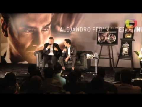 Alejandro Fernandez talks about his duet with Christina Aguilera (Press Conference México)