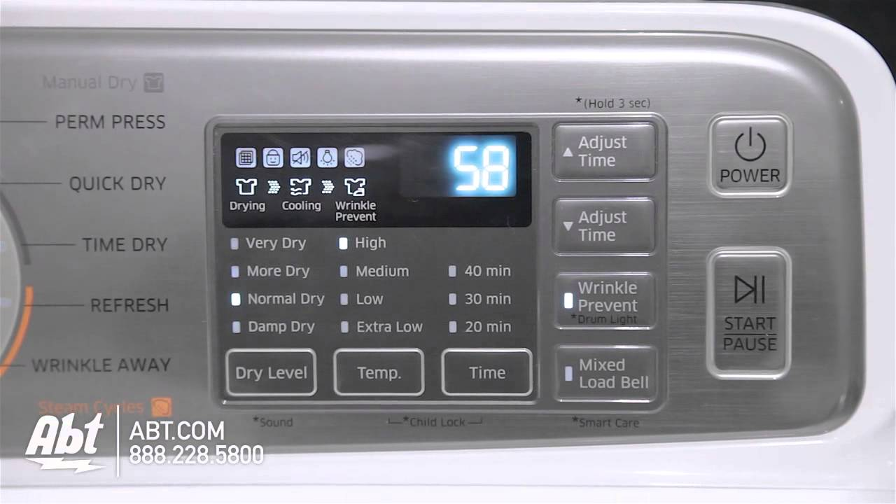 Samsung Front Load Steam Dryer Dv48h7400gwh Overview