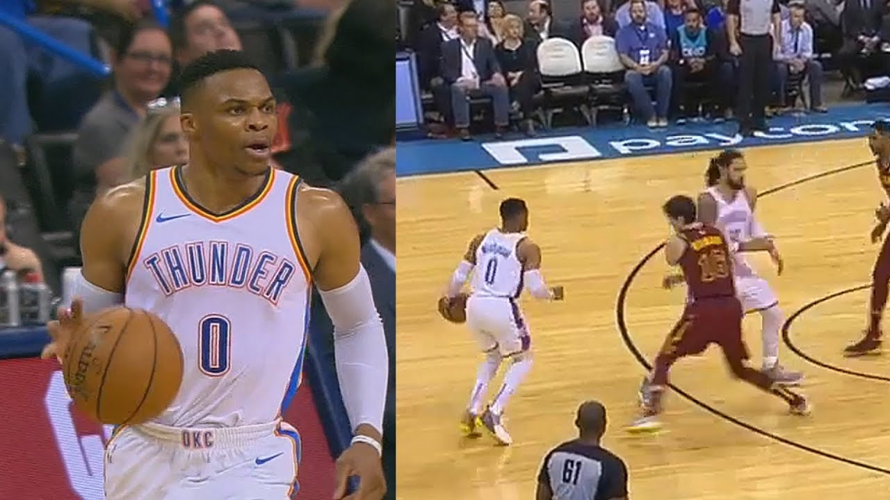 2210596e6b4b Russell Westbrook Murders Entire Cavs   Ties Jason Kidd For Third Most  Triple-Doubles Of All Time!