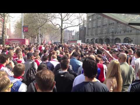 Ajax Amsterdam kampioen Leidse plein 2013