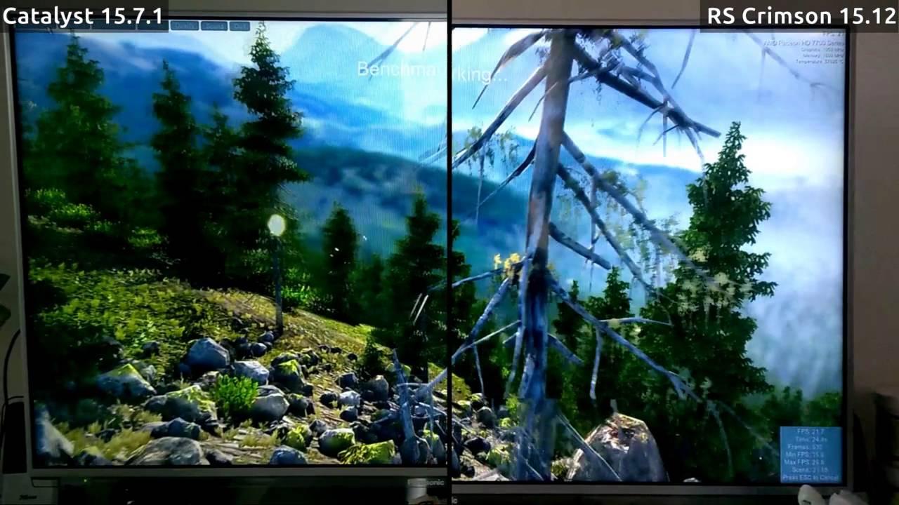 [Benchmark] Radeon HD 7790 • Windows • Catalyst 15 7 1 vs RS Crimson 15 12