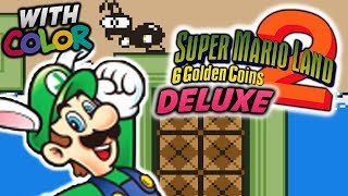 """SUPER LUIGI LAND 2 DELUXE!"" - Mario Land 2: 6 Golden Coins DX Gameplay (MOD HACK)"