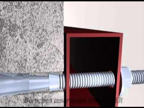 Anclaje expansi n camisa corta larga youtube - Como instalar una hamaca en la pared ...