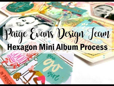 Scrapbooking Process #449  Gym Hexagon Mini Album / Paige Evans DT