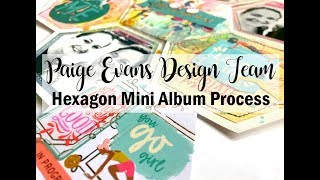 Scrapbooking Process #449  Gym Hexagon Mini Album / Paige Evans DT