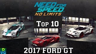 NFS No Limits | Top 10 - 2017 Ford GT (October 2017)