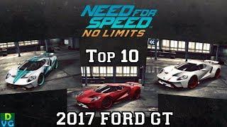 NFS No Limits | Top 10 - 2017 Ford GT (October 2017)