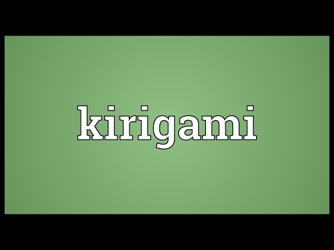 Kirigami Meaning