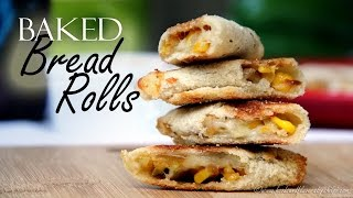 Bread Rolls Recipe | Baked bread rolls recipe | Healthy Vegetarian Breakfast Snacks Recipes for Kids