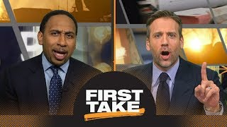 connectYoutube - Stephen A. and Max debate: Warriors' injuries to blame if Rockets win title? | First Take | ESPN