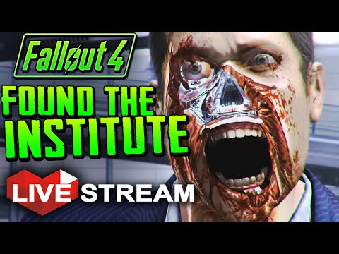 |Fallout 4 Gameplay Exploration| FOUND THE INSTITUTE!! - Live Stream