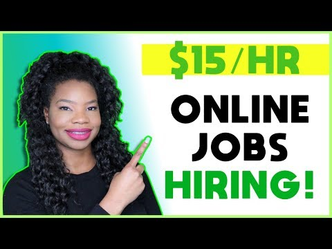 10 Work From Home Jobs Paying Over $15 Hourly | Online, Remote Work-At-Home Jobs 2020