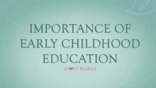 essay on history of early childhood education