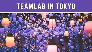 teamLab Interactive Art Installations in Tokyo Travel Vlog
