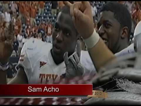 William V. Campbell Trophy Winner Sam Acho Thanks Coach Mack Brown