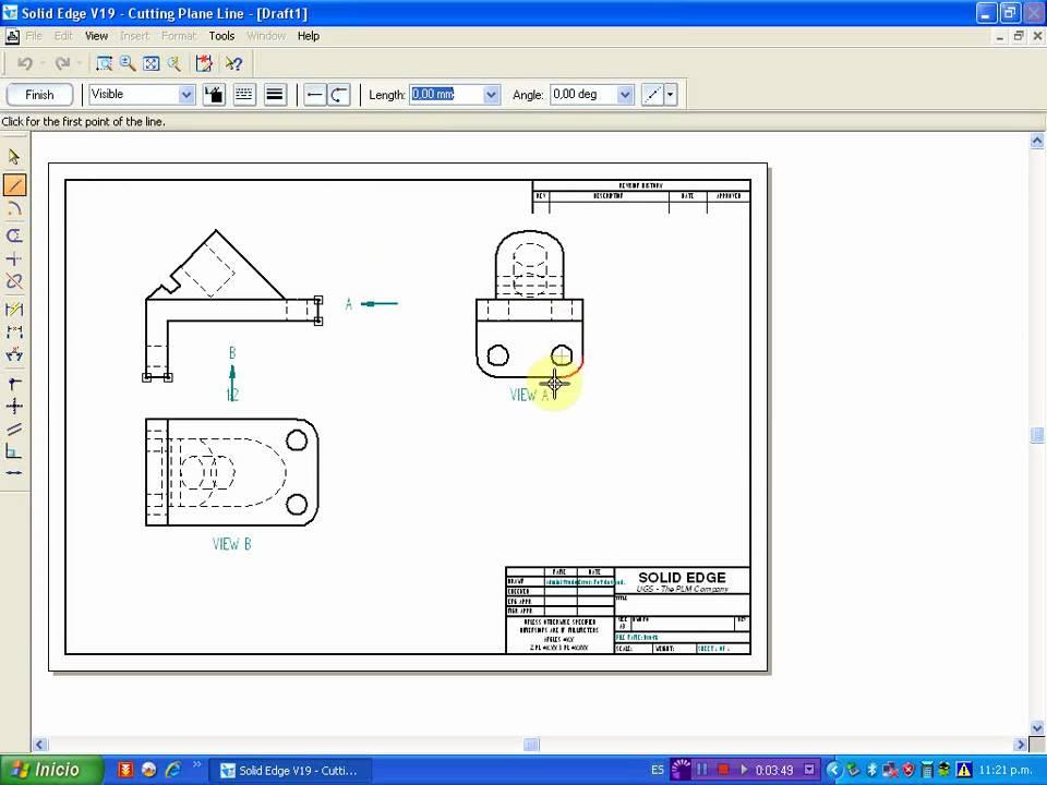 Solid edge planos de presentacion youtube for Programa para hacer planos arquitectonicos