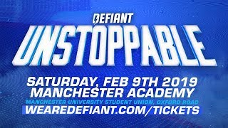 """""""Unstoppable"""" Is Coming To Manchester! Saturday, February 9th"""