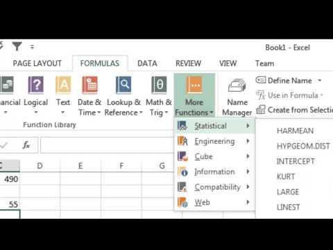 Excel Tutorial Formulas Part