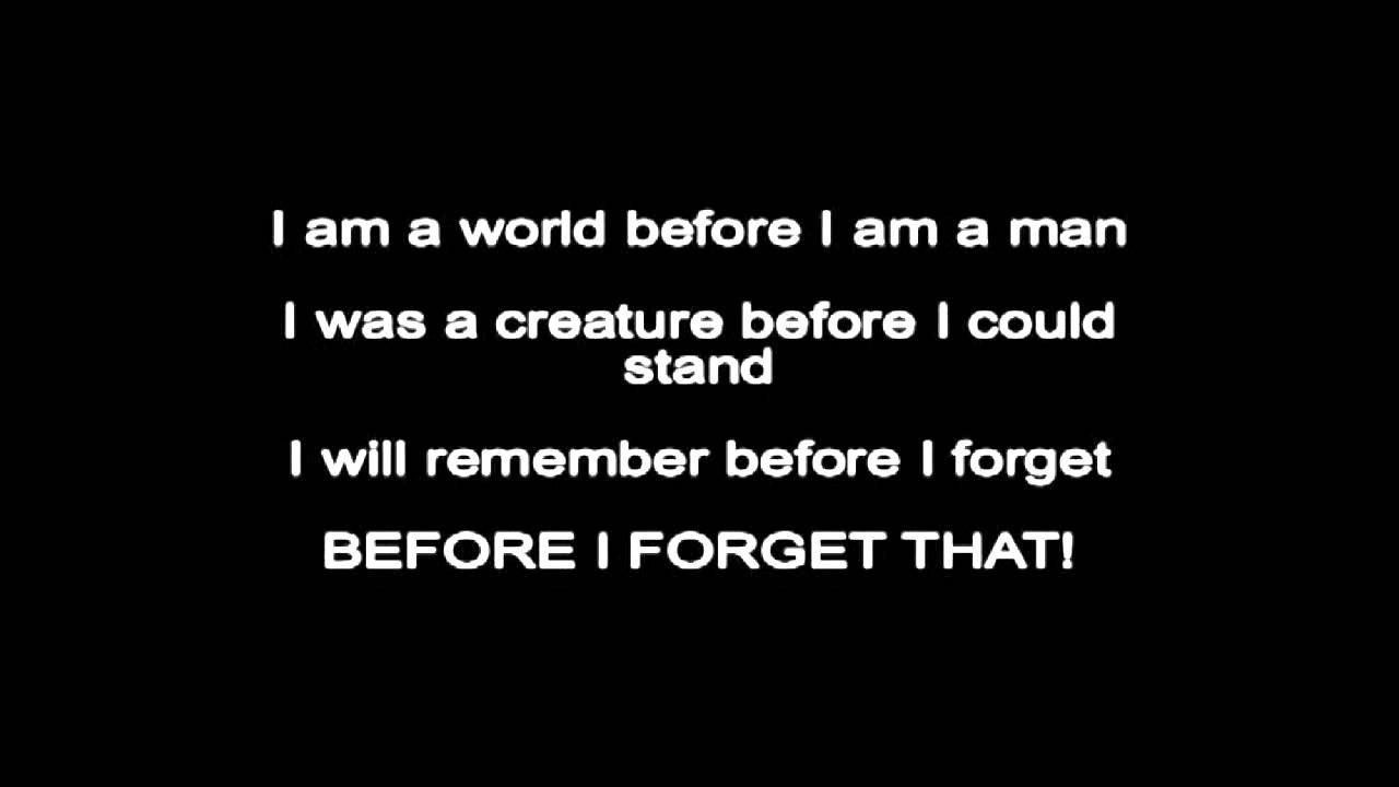 Before I Forget lyrics - YouTube