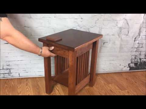 Hidden Compartment End Table By TOP SECRET FURNITURE  Secret Hidden  Compartment