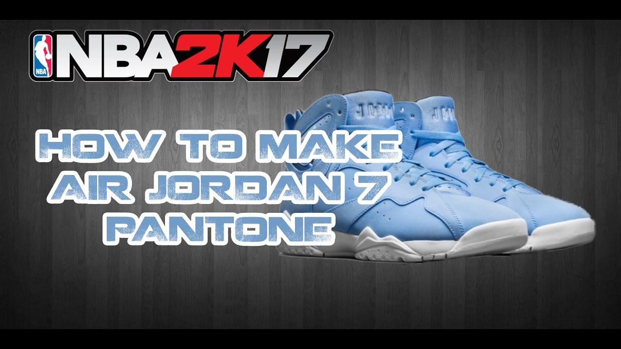 NBA 2K17 CUSTOM SHOES | HOW TO MAKE CUSTOM SHOES: JORDAN 7 ...