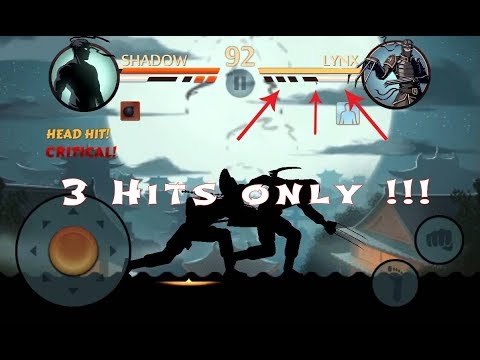 SHADOW FIGHT 2 Defeat Lynx 3 Hits Only !!!!
