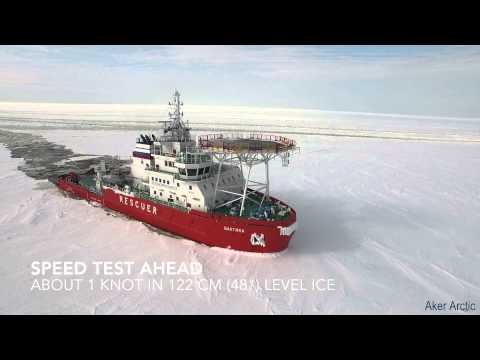 Oblique Icebreaker Baltika - Ice trials on 19 March - 10 April 2015