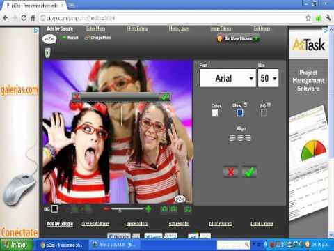 Como hacer una imagen en pizap - YouTube