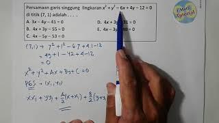 Cara Menentukan Persamaan Garis Singgung Lingkaran Yang Melalui Titik Pada Lingkaran