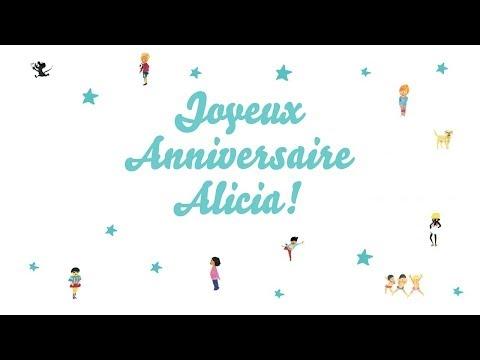 ♫ Joyeux Anniversaire Alicia! ♫