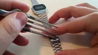 How to Adjust Casio Watch Band (A168W-1)