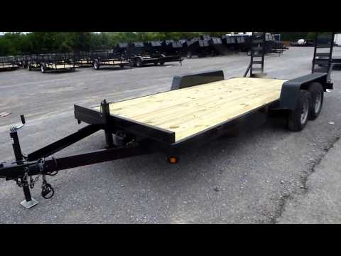 Equipment Trailer 18 Ft. Dove Tail Dual Axle Hauler